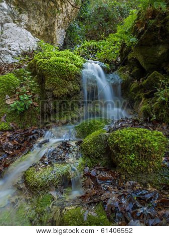 The waterfall of Nidri in Lefkas island Greece