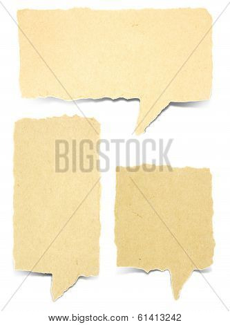 Paper Bubble Talk Tag