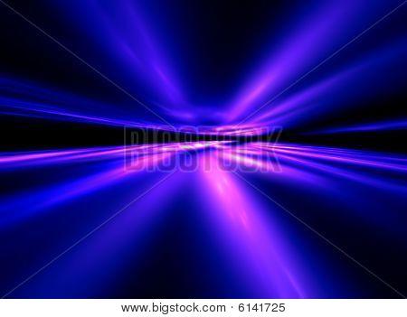 Dance Neon Comets - 3D fractal landscape