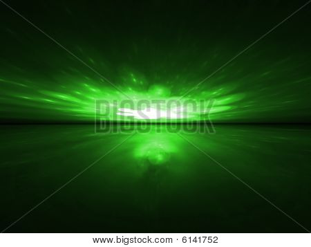 Green Magic - 3D Fractal Landscape