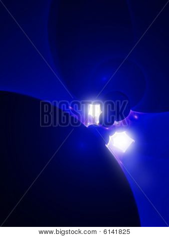 Backlit Blacklight Plasma - CG Illustration