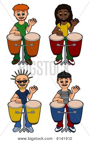 Men percussionists