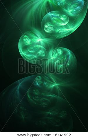 Magic Smoke, Green - Fractal Illustration