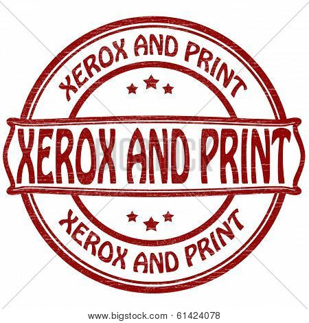 Xerox and print