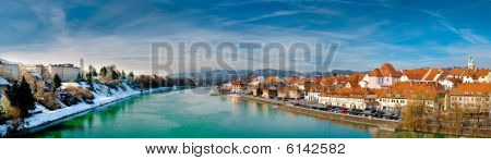 Maribor old town and river