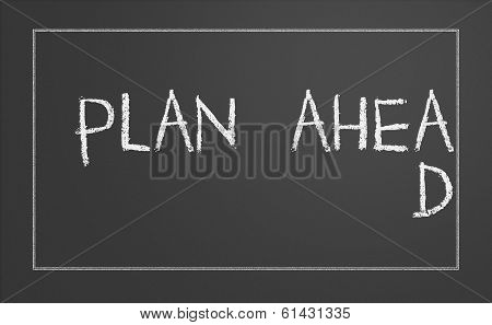 Plan Ahead Concept