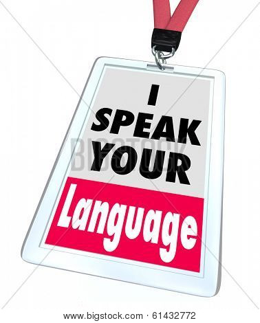 I Speak Your Language Badge Translator Service