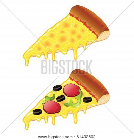 Slices Of Pizza Vector Illustration