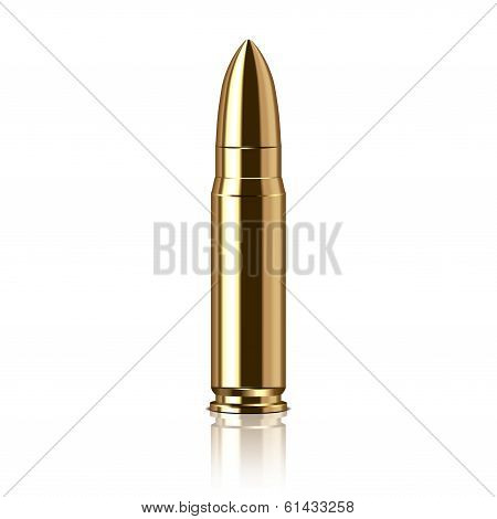 Rifle Bullet Vector Illustration