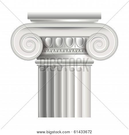 Roman Or Greek Column Vector Illustration