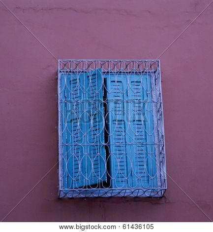 Morocco Ouarzazate - Arabesque Window In The Medieval Kasbah Built In Adobe