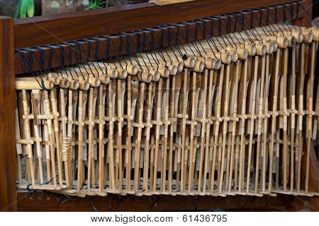 Sets of Angklung Wood Music Instrument at Saung Udjo Bandung