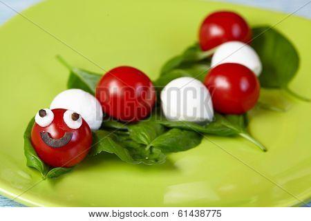 Caprese salad for kids