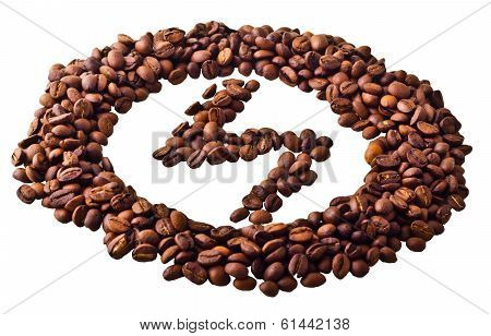 Sight 'lightning' in circle from Coffee beans