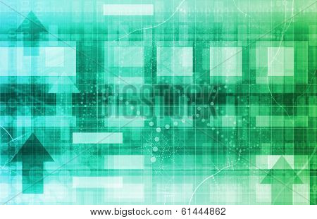 Scientific Research Concept as Futuristic Technology Abstract