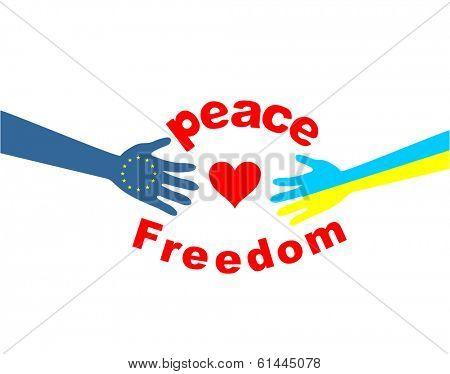 European and ukrainian friendship