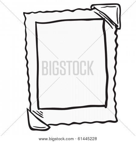 empty photo frame cartoon doodle