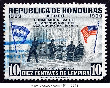 Postage Stamp Honduras 1959 Assassination Of The President Linco