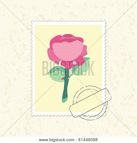 postage stamp rose