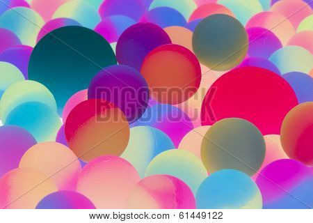 Illuminated Bicolor Balls Background