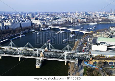 Hungerford Bridge Seen From London Eye
