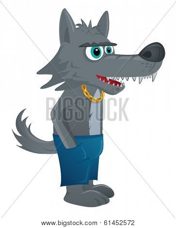 Wolf cartoon