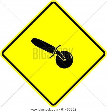 pizza cutter sign