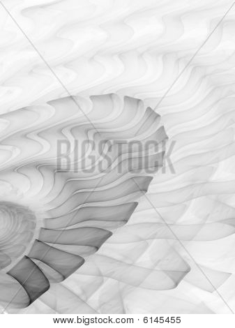 Smoke Ribbon Ripples - Monochrome - Fractal Illustration