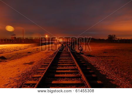 Train Tracks Leading To The Point Of No Return