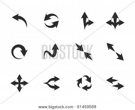 Vector flat arrow icons
