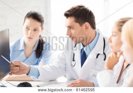 healthcare and medicine concept - picture of young team or group of doctors working