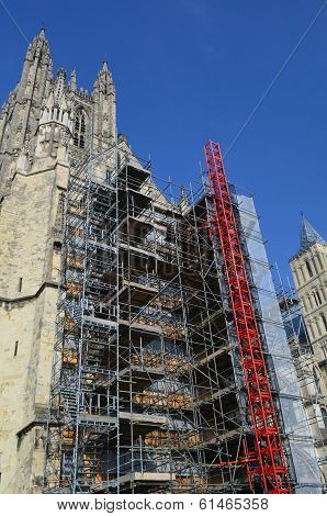 Scaffolding on Cathedral.
