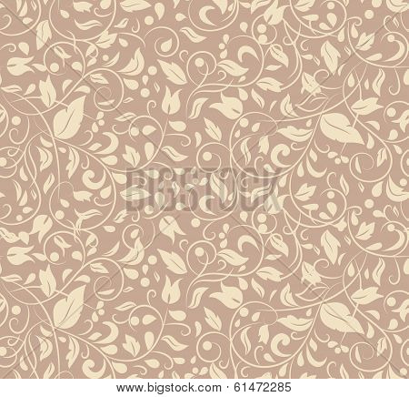 Elegant Stylish Abstract Floral Wallpaper.
