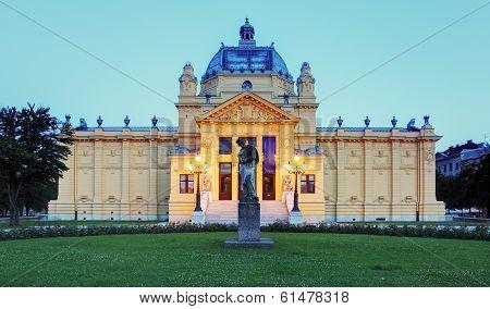 Art Pavillion In Zagreb. Croatia