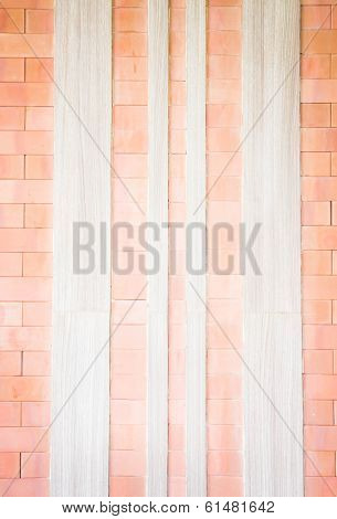 Brick And Wood Texture Of Wall