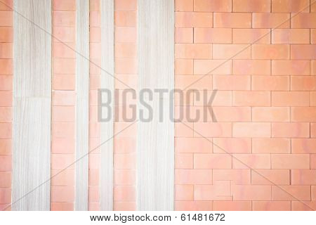 Brick And Wood Design Texture Background