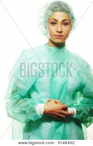 Image Of Beautiful Female Surgeon
