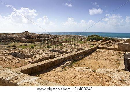 Tombs of the Kings in Paphos, Cyprus.