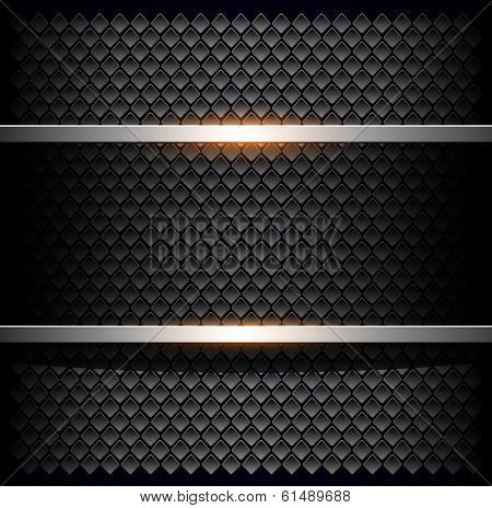 Background with black hole pattern, vector illustration