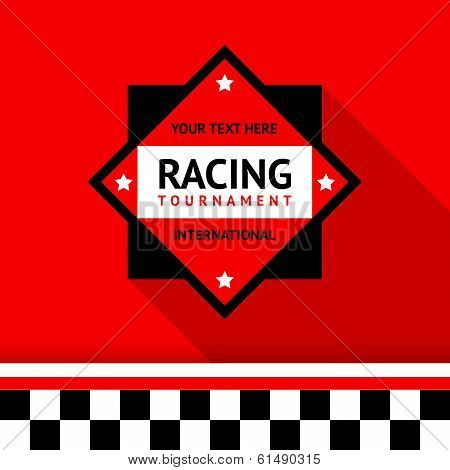 Racing badge