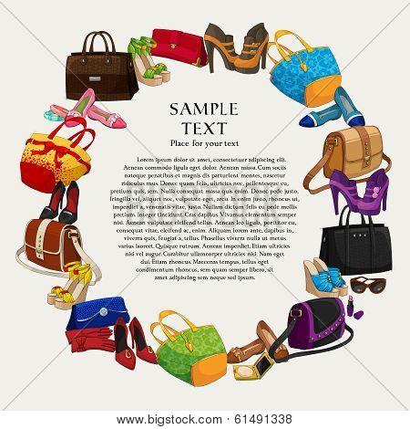 Luxury fashion shopping frame