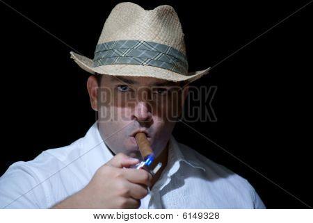 Beleuchtung eine Zigarre