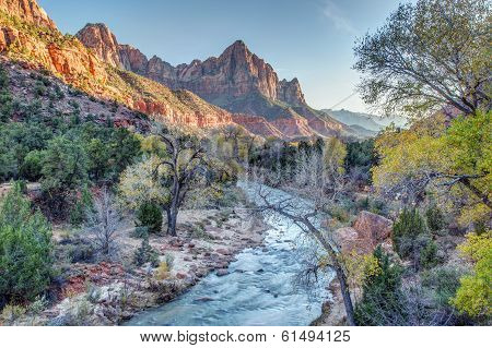 Autumn Sunset on the Watchman
