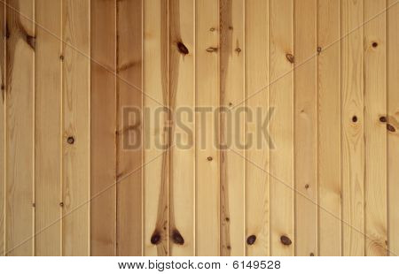 Vertical Knotty Pine Boards
