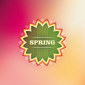 Spring background in color. Vector illustration.
