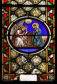 stock photo of stained glass  - Stained glass window in St - JPG