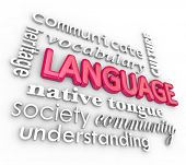 stock photo of dialect  - Language 3d Word Collage Heritage Understanding Vocabulary - JPG