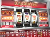 image of coin slot  - Jackpot on slot machine - JPG