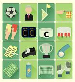 pic of offside  - vector flat icons soccer colorful set 16 - JPG