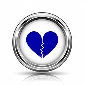 stock photo of heartbreak  - Shiny glossy icon  - JPG